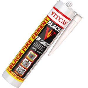 Vitcas Black Fire Cement 1250°C - 310ml