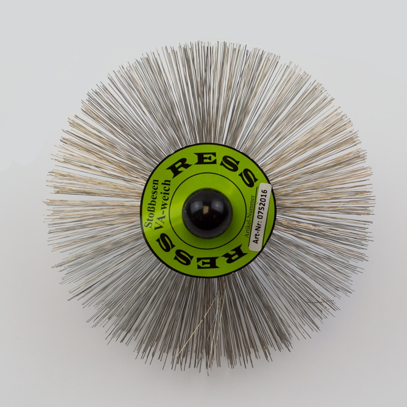 160mm Stainless Steel Brush – M10 Threaded