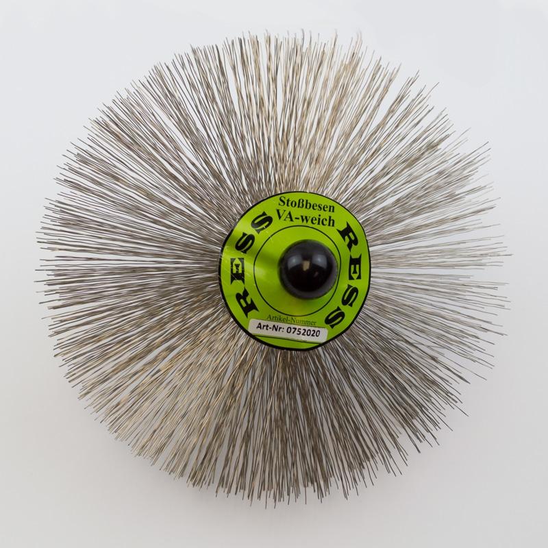 200mm Stainless Steel Brush – M10 Threaded