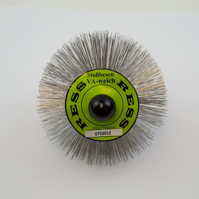 120mm Stainless Steel Brush – M10 Threaded