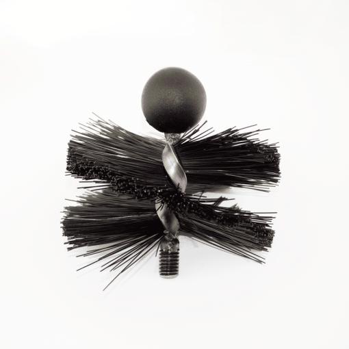 "5"" Medium Bristle Tamar Mini Mole Flue Cleaning Brush - Rodtech UK"