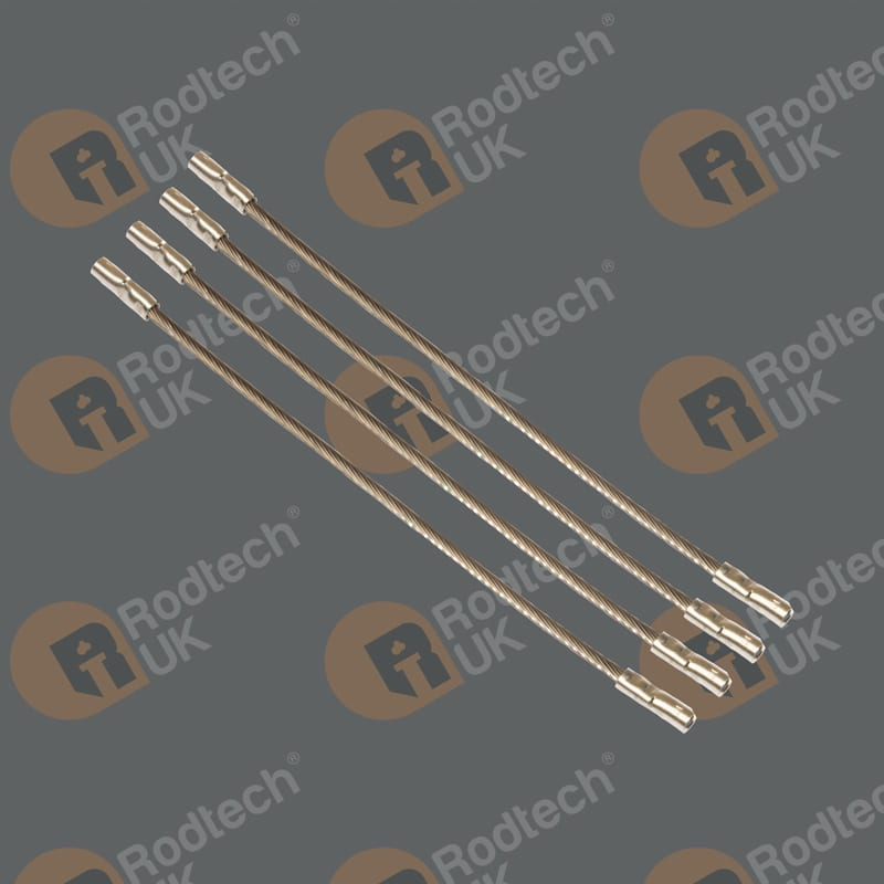 200mm Steel Wire with Crimped ends