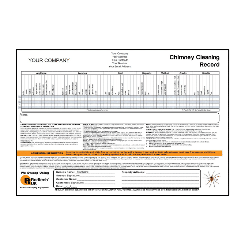 Chimney Sweeping Documents