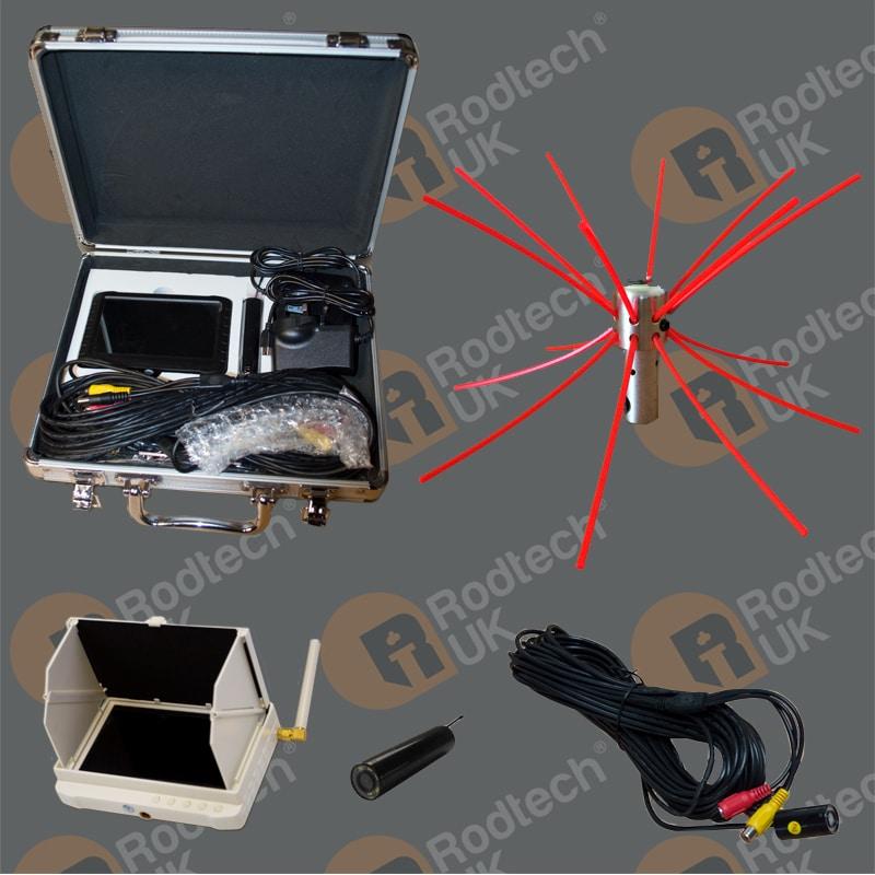 Chimney Inspection Camera Kit with Buttonlok Camera Head