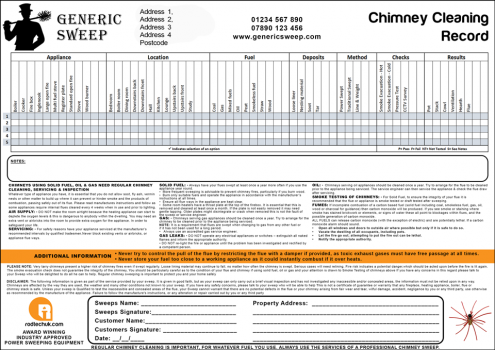 Rodtech Chimney Cleaning Certificate